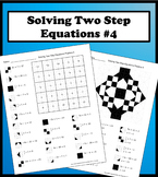 Solving Two Step Equations Color Worksheet Practice 4