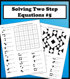Solving Two Step Equations Color Worksheet Practice 5