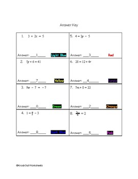 Christmas Two-Step Equations Color by Number