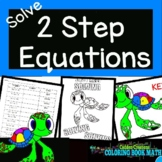 Solving Two Step Equations Coloring Book Math