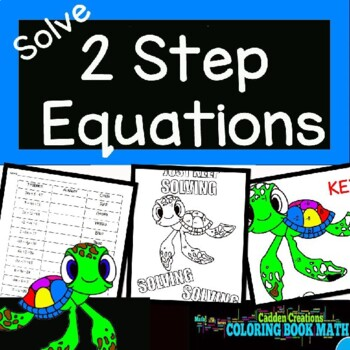 Solving Two Step Equations Coloring Book Math with Home Boovs