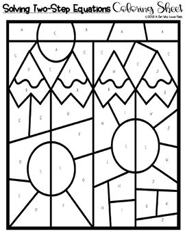Solving Two-Step Equations Coloring Sheet