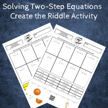 Solving Two-Step Equations Create a Riddle Activity