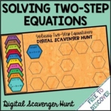 Solving Two Step Equations Digital Scavenger Hunt