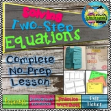 Solving Two Step Equations - Foldable, INB, Practice, and