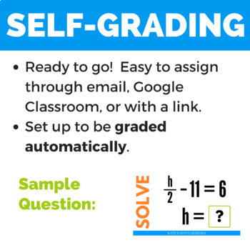 Solving Two-Step Equations - GOOGLE DRIVE ACTIVITY