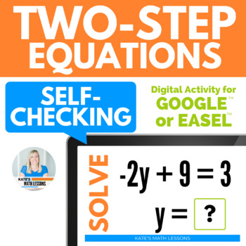 Solving Two-Step Equations Activity for Google Drive