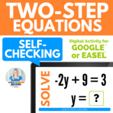 Solving Two-Step Equations Digital Activity for Google Drive™