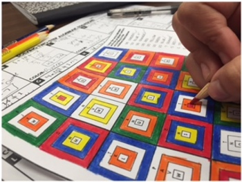 Solving Two Step Equations Granny Squares Coloring Activity