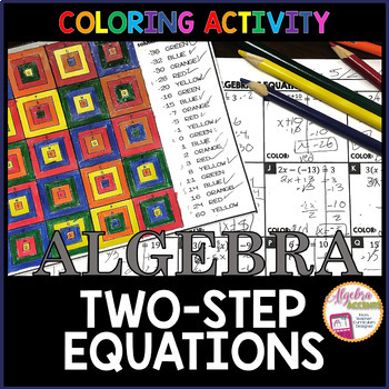 Solving Two-Step Equations Granny Squares Coloring Activity