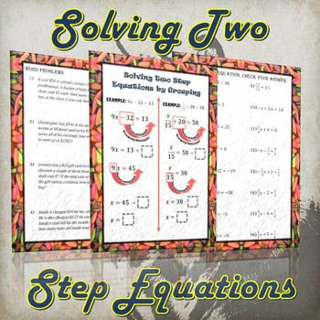 Solving Two Step Equations (Guided Notes and Practice)