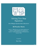 Solving Two-Step Equations (HI Practice Sheets)
