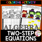 Solving Two Step Equations Halloween Algebra Activity