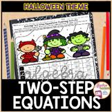 Solving Two Step Equations Halloween Algebra Activity
