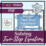Solving Two Step Equations   Holiday   Winter   Math   Dis