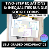 Solving Two-Step Equations & Inequalities Digital Bundle D