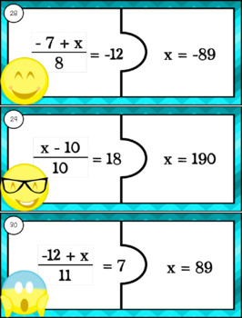Solving Two-Step Equations Matching Game