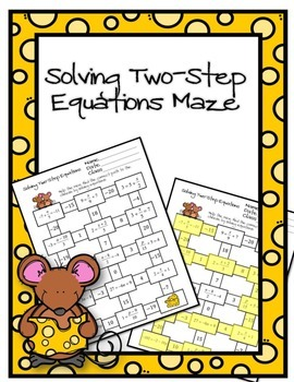 Solving Two-Step Equations Maze