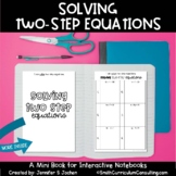 Solving Two Step Equations Mini Book 7th Grade