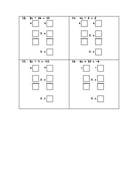 Solving Two-Step Equations Modified Worksheet