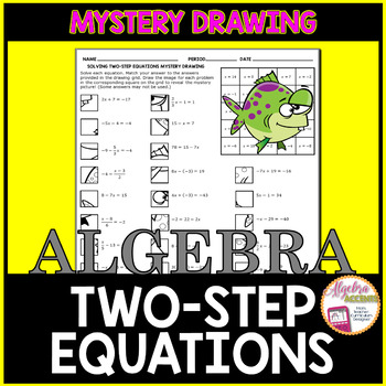 Solving Two Step Equations Mystery Drawing
