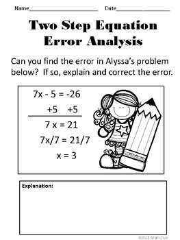 Two Step Equations No Prep Lesson