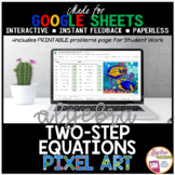 Google Sheets Digital Pixel Art Math Solving Two Step Equations