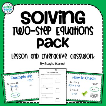 Solving Two-Step Equations Pack