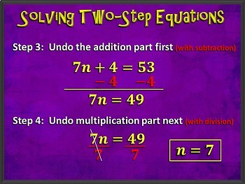 Two-Step Equations (PowerPoint Only)