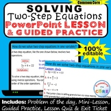 Distance Leaning SOLVING TWO-STEP EQUATIONS PowerPoint Les