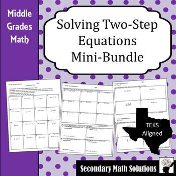 Solving Two-Step Equations Mini-bundle  (711A)