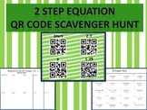 Solving Two Step Equations QR Code Scavenger Hunt