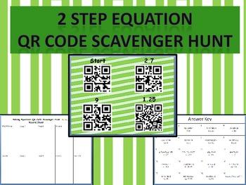 Solving Two Step Equations QR Code Scavenger Hunt