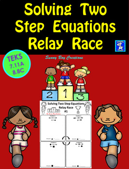 Solving Two Step Equations Relay Race