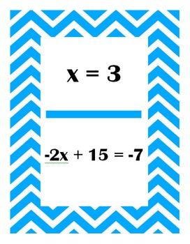 Solving Two Step Equations Scavenger Hunt