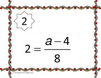 Solving Two-Step Equations Scavenger Hunt