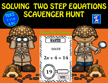 Solving Two Step Equations Scavenger Hunt