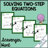 Solving Two Step Equations Scavenger Hunt Activity