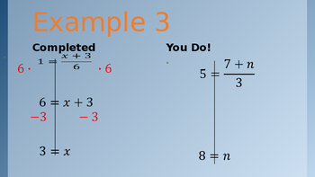 Solving Two-Step Equations (Split Screen Practice)
