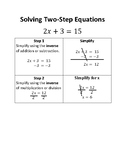 Solving Two-Step Equations: Step-By-Step Guide