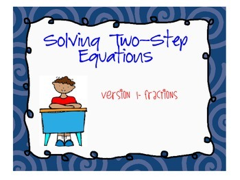 Solving Two-Step Equations (Task Cards)
