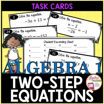 Solving Two Step Equations Task Cards