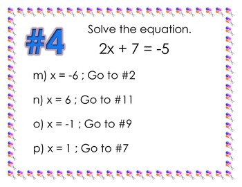 Solving Two-Step Equations Trail
