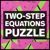 Solving Two-Step Equations Triangle Puzzle