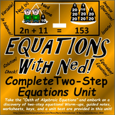 Solving Two Step Equations Unit: All Operations and Word Problems