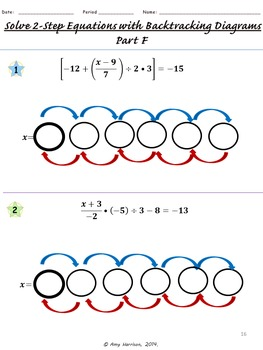 Solving Two-Step Equations Using Backtracking