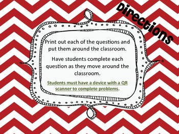 Solving One-Step Equation Word Problems using QR Codes