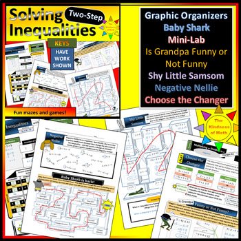 Solving Two-Step Equations and Inequalities Bundle: Flowing Progressions!