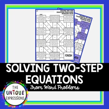 Solving Two-Step Equations from Word Problems Maze Activity