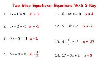 """Solving Two Step Equations with """"Equation Estates"""""""